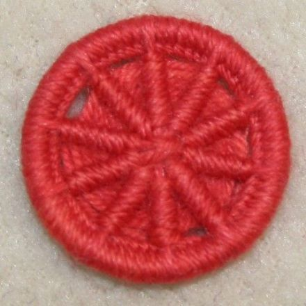 Dorset Button Kit - Crosswheel Design, Burnt Orange